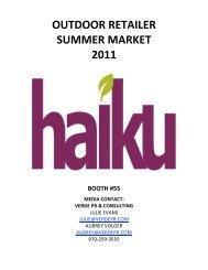 Haiku by Sharon Eisenhauer ORSM 2011 Press Kit