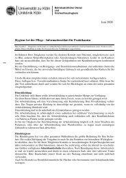 Informationsblatt für Praktikanten - Uniklinik Köln