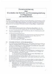 Grundsätze Schicht-und Dienstplan Pflege.pdf - Uniklinik Köln