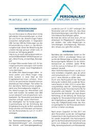 PRaktuell Nr. 3 August 2011 - Uniklinik Köln