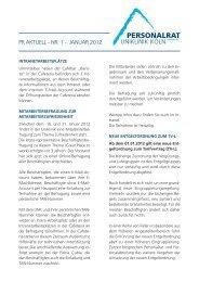 PRaktuell Nr. 1 Januar 2012 - Uniklinik Köln