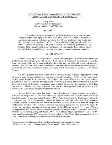 ACQUISITION SEMI-AUTOMATIQUE DE POINTS D ... - GeoGratis