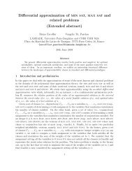 Differential approximation of min sat, max sat and related ... - DIMACS