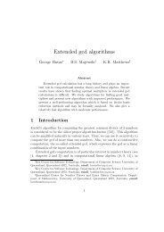 Extended gcd algorithms - DIMACS