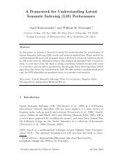 A Framework for Understanding Latent Semantic Indexing (LSI ...