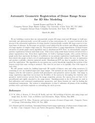 Automatice Geometric Registration of - DIMACS
