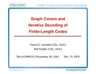 Graph Covers and Iterative Decoding of Finite-Length ... - DIMACS
