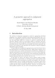 A geometric approach to judgement aggregation - Lamsade