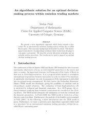 An algorithmic solution for an optimal decision making ... - DIMACS