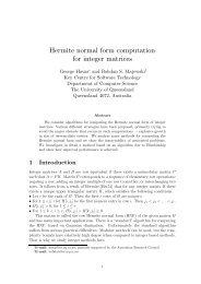 Hermite normal form computation for integer matrices - ITEE ...