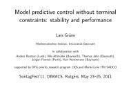 Model predictive control without terminal constraints ... - DIMACS