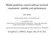 Model predictive control without terminal constraints ... - DIMACS