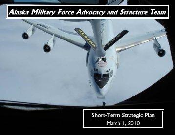 AMFAST Short-Term Strategic Plan - Alaska - Department of Military ...