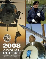 2008 Annual Report - Alaska - Department of Military and Veterans ...