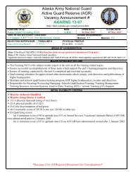 Alaska Army National Guard Active Guard Reserve (AGR) Vacancy ...