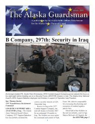 January, 2008 - Alaska - Department of Military and Veterans Affairs