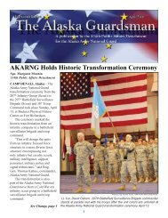 AKARNG Holds Historic Transformation Ceremony - Alaska ...
