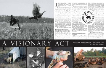 wildlife restoration law turns 75 - Kentucky Department of Fish and ...