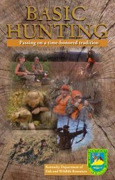 Basic Hunting - Kentucky Department of Fish and Wildlife Resources