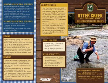 Brochure - Kentucky Department of Fish and Wildlife Resources