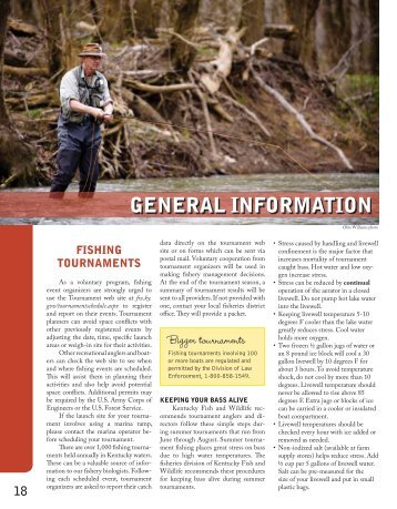 General Information - Kentucky Department of Fish and Wildlife ...