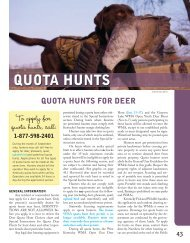 QUOTA HUNTS - Kentucky Department of Fish and Wildlife Resources