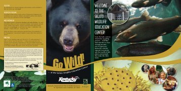 The Salato Center - Kentucky Department of Fish and Wildlife ...