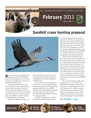 February 2011 Newsletter - Kentucky Department of Fish and ...