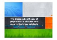 The therapeutic efficacy of p y propranolol in children with recurrent ...