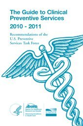The Guide to Clinical Preventive Services, 2010-2011 - Universal ...