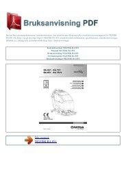 Instruktionsbok NILFISK BA 851 - BRUKSANVISNING PDF