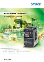 MX2-FREKVENSOVANDLARE - Omron Europe