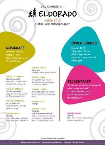 Kultur- och fritidsprogram våren 2013 - Göteborg