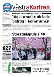 Lägst antal utdelade bidrag i kommunen Storstadspuls i VK - IQ Pager
