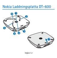 Nokia Laddningsplatta DT-600