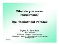 What do you mean recruitment? - Alaska Sea Grant College Program
