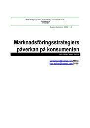 Marknadsföringsstrategiers påverkan på konsumenten - BADA ...