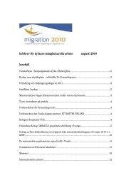 Infobrev för kyrkans mångkulturella arbete augusti 2010 ... - Sakasti