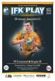 SM-slutspel – Kvartsfinal 5:5 IFK Kristianstad ... - IQ Pager - Quid