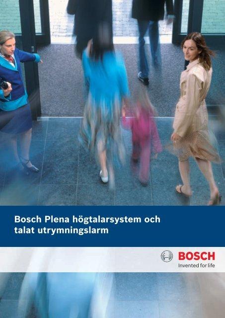 Bosch Plena högtalarsystem och talat utrymningslarm