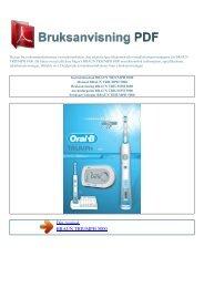 Instruktionsbok BRAUN TRIUMPH 5000 - BRUKSANVISNING PDF