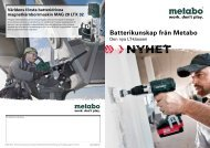 2013 Cordless Competence SE - Metabo