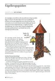 Fågelkrogsguiden (pdf) - Sveriges Radio