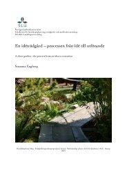En idéträdgård – processen från idé till utförande - Epsilon Archive ...