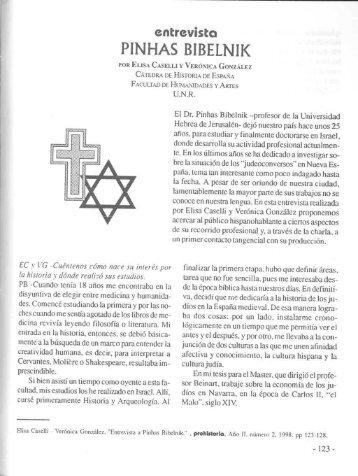 pinhas bibelnik - Biblioteca SAAVEDRA FAJARDO de Pensamiento ...