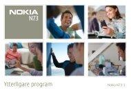 Ytterligare program - Nokia