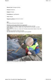 Rapport om miljöarbetet - Eskilstuna kommun