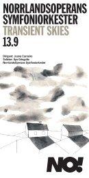 Konsertprogram Transient Skies (pdf) - Sveriges Radio