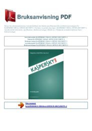 small office security 2 - BRUKSANVISNING PDF