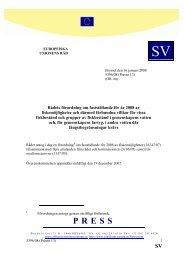 Rådets förordning om fastställande för år 2008 av ... - Europa